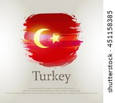 turkish flag painted abstract... | Shutterstock .eps vector #451158385