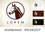 Stock vector horse head logo 451161217