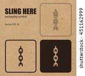 sling here vector packaging... | Shutterstock .eps vector #451162999