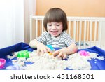 Happy Smiling Child Plays...