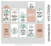 wedding invitation card with... | Shutterstock .eps vector #451170304