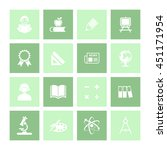 educational icon set. eps 10. | Shutterstock .eps vector #451171954