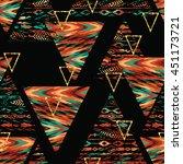 tribal ethnic seamless pattern... | Shutterstock .eps vector #451173721