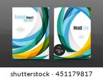 color waves abstract background ... | Shutterstock .eps vector #451179817