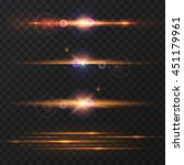 set of abstract lens flares... | Shutterstock .eps vector #451179961