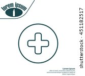 medical cross line icon   Shutterstock .eps vector #451182517