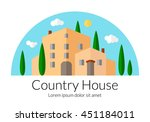 country house flat design.... | Shutterstock .eps vector #451184011