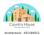 country house flat design.... | Shutterstock .eps vector #451184011