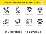 flat line design concept icons... | Shutterstock .eps vector #451190515