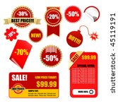 vector sale tags and labels set | Shutterstock .eps vector #45119191