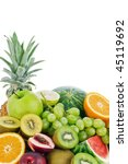 fresh fruits isolated on a... | Shutterstock . vector #45119692