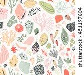 vector hand drawn seamless... | Shutterstock .eps vector #451197604