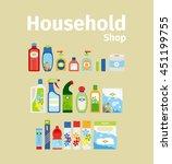 household goods shop icon set.... | Shutterstock .eps vector #451199755