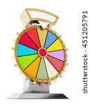 wheel of fortune isolated on... | Shutterstock . vector #451205791