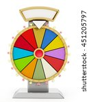 wheel of fortune isolated on... | Shutterstock . vector #451205797