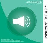 web icon. volume | Shutterstock .eps vector #451208821