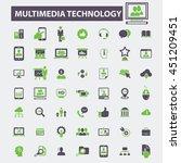 multimedia technology icons | Shutterstock .eps vector #451209451