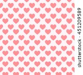 seamless striped pink hearts ... | Shutterstock .eps vector #451209589