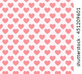 seamless pink hearts with...   Shutterstock .eps vector #451209601