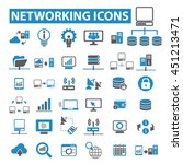 networking icons | Shutterstock .eps vector #451213471