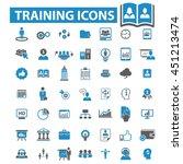 training icons | Shutterstock .eps vector #451213474