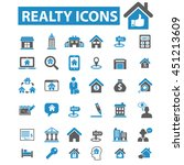 realty icons | Shutterstock .eps vector #451213609
