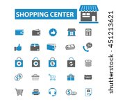 shopping center icons | Shutterstock .eps vector #451213621