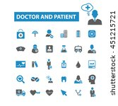 doctor and patient icons | Shutterstock .eps vector #451215721