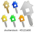 house metallic keys. icon set.... | Shutterstock .eps vector #45121600