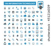 information technology icons | Shutterstock .eps vector #451216039