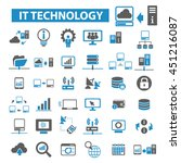 it technology icons   Shutterstock .eps vector #451216087