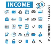 income icons | Shutterstock .eps vector #451216099