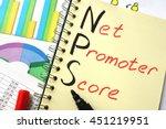 notebook with  sign nps net... | Shutterstock . vector #451219951