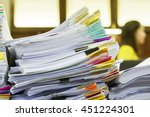 paper documents stacked in... | Shutterstock . vector #451224301