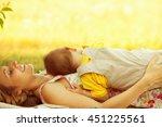 happy family  friends forever...   Shutterstock . vector #451225561