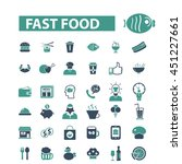 fast food icons | Shutterstock .eps vector #451227661