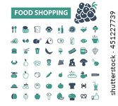 food shopping icons   Shutterstock .eps vector #451227739