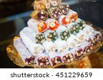 assortment of turkish delight... | Shutterstock . vector #451229659