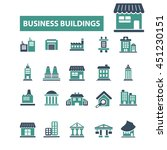business buildings icons | Shutterstock .eps vector #451230151