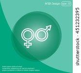 web line icon. gender symbol ... | Shutterstock .eps vector #451232395