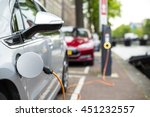 charging an electric car  ... | Shutterstock . vector #451232557