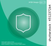 web line icon. shield.   Shutterstock .eps vector #451237264