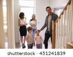 realtor showing young family... | Shutterstock . vector #451241839