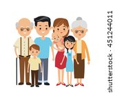 family cartoon concept... | Shutterstock .eps vector #451244011