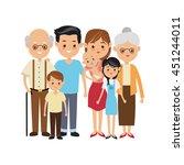 family cartoon concept... | Shutterstock .eps vector #451244011