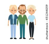 family cartoon concept... | Shutterstock .eps vector #451244059