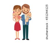 family cartoon concept... | Shutterstock .eps vector #451244125