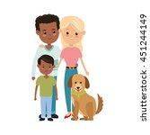 family cartoon concept... | Shutterstock .eps vector #451244149