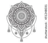 flower mandala. vintage...   Shutterstock .eps vector #451248031