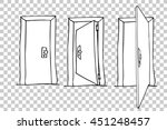 hand draw sketch of doors  | Shutterstock .eps vector #451248457